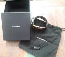 Dolce & Gabbana D&G Leather Brown Snake Skin Bracelet