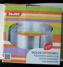 CUISINE PATISSERIE Moule Cercle extensible Inox 16 à 30 cm