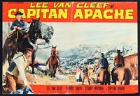 Fotobusta Captain Apache Lee Van Cleef Carroll Baker Stuart Whitman Western R127
