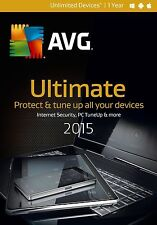 NIB! AVG Ultimate 2015 Unlimited Devices / 1 Year - Free Upgrade to 2017