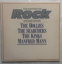 History of Rock Vol 7 - Hollies / Searchers / Kinks / Manfred Mann Vinyl LP EX