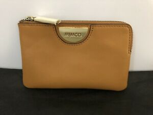 Mimco Small Echo BNWT Leather Honey Brand New pouch