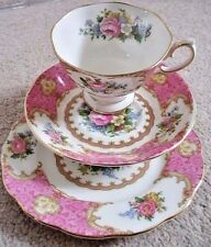 Royal Albert England Lady Carlyle  porcelain tea trio,cup,saucer,plate