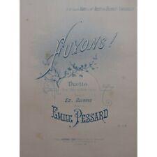Pessard Emile Let's Run Away Singer Piano 1889 Sheet Music Sheet Music Score