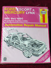 Haynes Repair Manual Ford Escort  Mercury Lynx 1981 – 1990