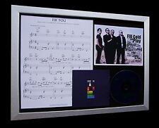 COLDPLAY Fix You LTD Nod CD MUSIC QUALITY FRAMED DISPLAY+EXPRESS GLOBAL SHIPPING