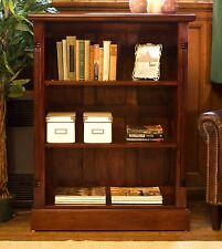 La Roque solid dark wood mahogany furniture low living room office bookcase