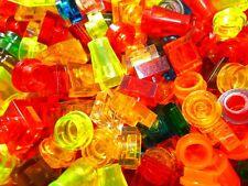 100 Lego Steine Glassteine transparent durchsichtig 1x1 bunt gemischt kg