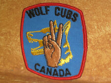 Boy Scouts Wolf Cubs Canada Badge Patch Embroidered Sew On Scout Blue & Red Trim
