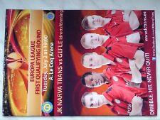 Programm JK TRANS NARVA - GEFLE IF 2013/14 Europa League Estonia Sweden Sverige
