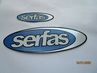 Vintage Serfas Bicycle Frame Stickers Lot of 2