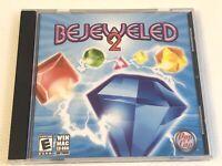 Bejeweled 2 Two II PC or Mac CD Game 2004 Pop Cap Windows Mac Os XP Vista Cd Rom