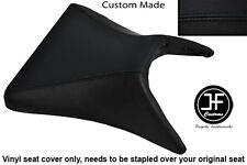 BLACK VINYL CUSTOM FOR KAWASAKI NINJA ZX6R 03-04 FRONT RIDER SEAT COVER ONLY
