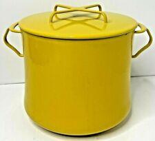 Vintage DANSK Kobenstyle Yellow Enameled 2 Gallon Dutch Oven Soup Pot & Lid