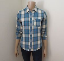 Hollister Womens Plaid Flannel Shirt Size Small Button Down Blouse