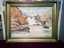 ian granger IMPRESSIONIST Oil Painting on canvas board with guilt frame