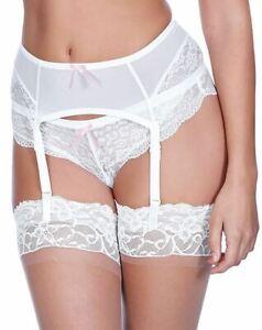 Freya Fancies AA1019 Suspender Belt White (WHE) CS