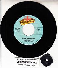 "THE BEACH BOYS  Be True To Your School 7"" 45 rpm record + juke box strip NEW"