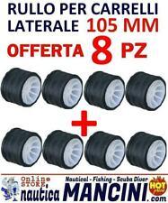 8 RULLI LATERALI RICAMBIO CARRELLO MM 105 BARCA GOMMONE RULLO LATERALE TRASPORTO