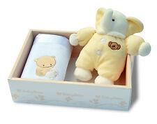 Coffret Cadeau de naissance bébé Doudou Peluche Eléphant + Plaid Baby-Bow