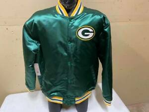 Green Bay Packers Throwback Satin Jacket by Mitchell & Ness - XXL - New w/ Tags