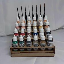Rangement peintures Vallejo paint rack Storage shelf Wargames 40k Army Painter