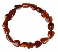 Hessonit Edelstein-Armband Stretch Perlenarmband D598