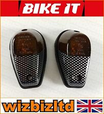 Bikeit Carbon E-Marked Flush Mount Universal Indicators Smoked Lens INDFCBNS