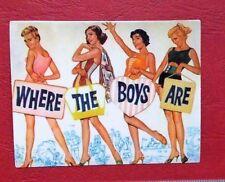 "Sticker Aufkleber ""Where The Boys Are"" Retro -  Stickerbomb Laptop Skateboard"
