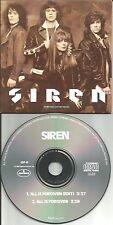 Kristen Massey SIREN All is forgiven w/ RARE EDIT PROMO Radio DJ CD Single 1988