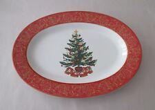 222 Fifth O'Tannenbaum Christmas Tree Oval Platter NWT