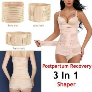 3 in 1 Postpartum Support Recovery Belly Waist/Pelvis Belt Corset Body Shaper UK
