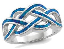 Лаборатория создала голубой опал серебро кольцо