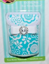 NEW ROOM LOOKZ  LOCKER LOOKZ COOL BIN FOR YOUR SCHOOL LOCKER - AQUA & WHITE -