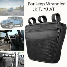 1pc Interior Storage Passenger Glove Box Bag Handle Storage Pouch w/Mesh Pocket