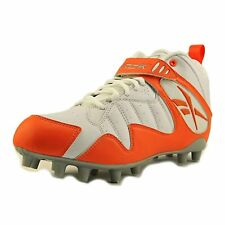 Reebok PRO ALL OUT ONE MID MP Cleats Men US 13 Leather Upper Orange White New