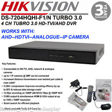 UK HIKVISION 4CH TURBO 3.0 DVR WITH CVBS,AHD,HD-TVI,VGA OUTPUT DS-7204HQHI-F1/N