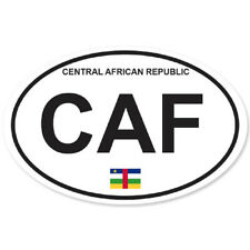 CENTRAL AFRICAN REPUBLIC ISLANDS COUNTRY OVAL BUMPER STICKER OVAL 120mm x 78mm