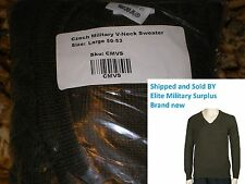 Czech Military V-Neck Sweater size XL army military surplus  wool blend nice