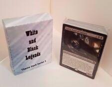 MTG Standard  & Theme Decks - Black & White Legends Magic the Gathering