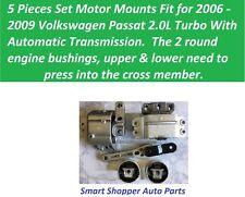 5 PCS Set Motor Mounts Fit for2006 2007 - 2009 Volkswagen Passat  2.0L Turbo A/T