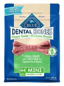 NATURAL Blue Buffalo Dog MINI Bones Dental Breath Healthy Treats MADE IN USA