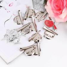10Pcs Dual Brooch Base Pad With Clip & Safety Pin Back Diy Hair Accessories
