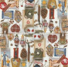 Lot de 2 Serviettes en papier Décor Chalet Noël Decoupage Collage Decopatch
