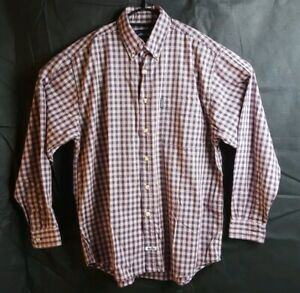 Ellesse Mens - white red & blue - Long Sleeve Button Down Shirt - Size Small