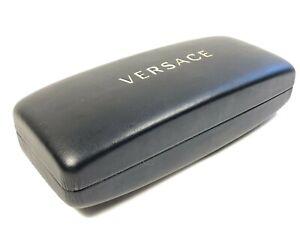 Authentic Black Versace Large Hard Side Clamshell Eyeglasses / Sunglasses Case