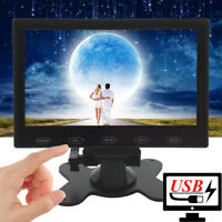"Mini 7"" LCD CCTV Monitor USB Power 5V/2A 1080p AV/RCA/VGA/HDMI/BNC HD PC Screen"