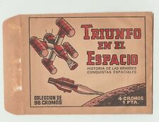 1960s Original Spanish Opened Packet Wrapper Edival S A Triumph In Space