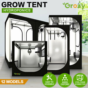 GROZY Hydroponics LED Grow Light Tent Mylar Room For Ventilation Kit Grow System