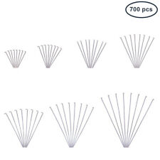1 Box 700pcs 304 Stainless Steel Head pins 7 Styles Eye Pins for Jewelry Making